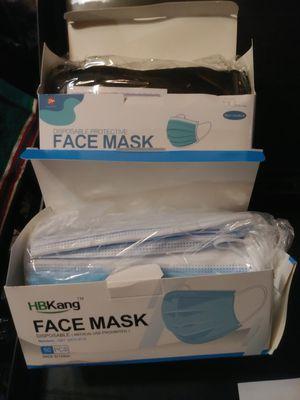 Face Masks blue & black @ $25 ea box for Sale in Des Moines, WA
