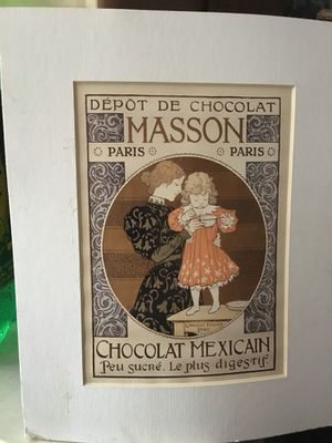 Charlton Home 'Depot de Chocolat Masson: Chocolat Mexicain' Framed Graphic Art Print for Sale in Houston, TX