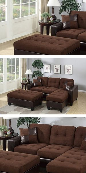 SECTIONAL & OTTOMAN | LIVING ROOM | COUCH | LOVESEAT | SOFA | JUEGO DE SALA | DELIVERY FREE BY TMF 🚚📦🛠 for Sale in Hialeah, FL