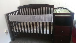Crib with changing table, drawers, and shelves for Sale in Wichita, KS