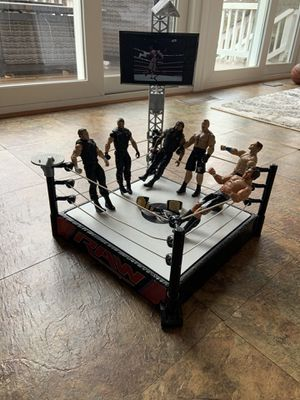RAW wrestling ring and 6 wrestlers for Sale in Sterling, VA