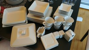 Serving for 6, contemporary dishware for Sale in North Providence, RI