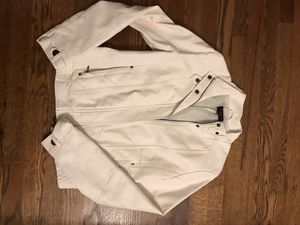 White leather jacket for Sale in Alexandria, VA