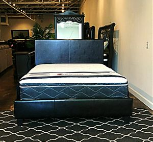 BRAND NEW QUEEN SIZE BED AND PILLOW TOP MATTRESS (FREE DELIVERY) for Sale in Lewisville, TX