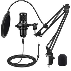 Professional Condenser Microphone Set with Adjustable Mic Arm Stand for New PS4 Gaming Studio Podcast Recording YouTube Video Steaming for Sale in Hialeah, FL