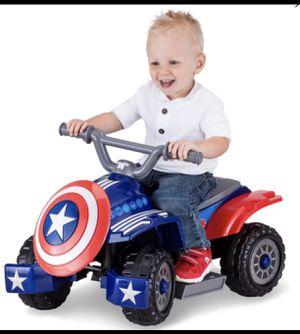 Marvel's Captain America Toddler Quad 6-Volt Ride-On for Sale in New York, NY