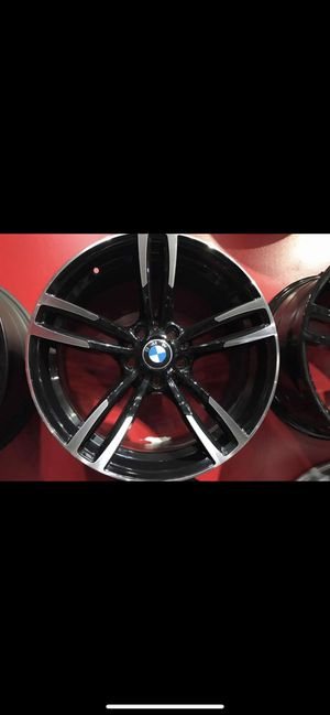"""Bmw 20"""" new blk machine m style rims tires set for Sale in Hayward, CA"""