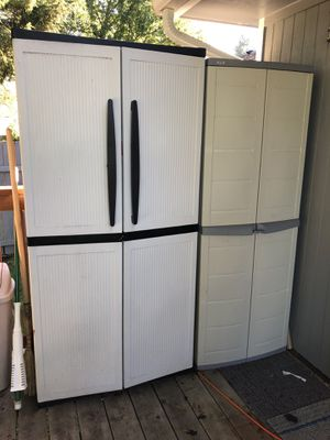 All weather outdoor indoor Storage utility cabinets vertical sheds for Sale in Renton, WA