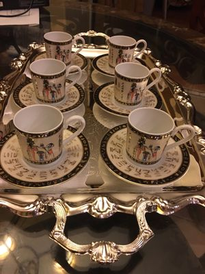 6 small cups & 6 small plates for Turkish coffee for Sale in Glendale, AZ