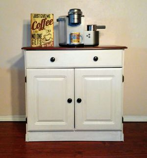 Delivery Options Available! White Coffee Bar or Small Buffet - small kitchen island - dresser baby changing table entryway vanity media center for Sale in Arlington, TX