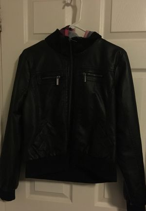 Women's XL leather hoodie jacket for Sale in Austin, TX
