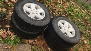 Jeep wrangler wheels and tires (OBO) for Sale in Arlington, TX