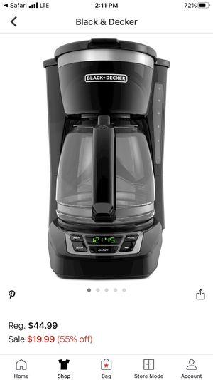 Black and decker coffee maker like new for Sale in Santa Ana, CA