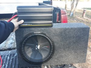 "1200.1 Kicker Amp And 12"" CompR Woofer In Kicker Box for Sale in Limington, ME"