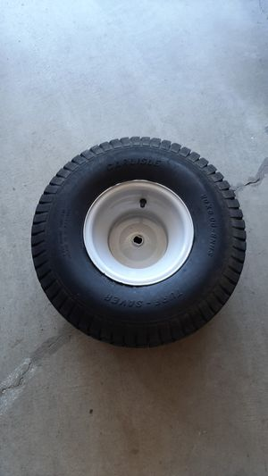 Riding lawn mower rear tire and wheel for Sale in Tacoma, WA