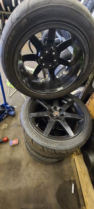 Cts-V RIMS AMD TIRES for Sale in Houston, TX