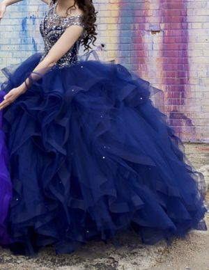 Quinceanera dress (Navy blue) for Sale in Pasadena, TX