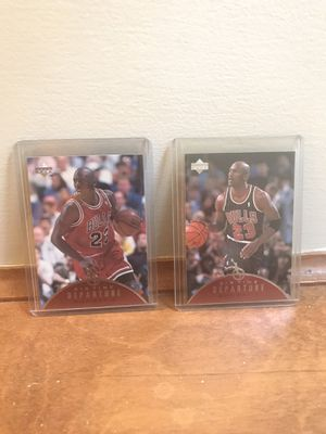 Michael Jordan air time departure insert 2 card lot for Sale in Raleigh, NC