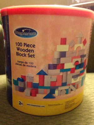 Imaginirium 100 piece wooden blocks for Sale in Fort Wayne, IN