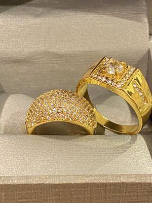 18K Gold plated Matching Sparkling Ring Set ✨✨ -CodeYL560 for Sale in Sacramento, CA