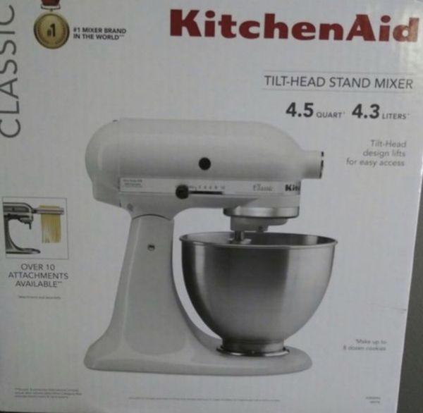 Kitchen aid mixer by kitchenaid white color mixer 4.5 qt