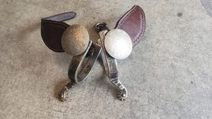Ladies spurs with staps and huge conchos for Sale in Sammamish, WA