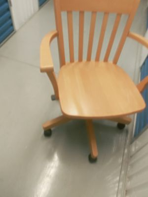 Wooden office chair for Sale in Windsor Mill, MD
