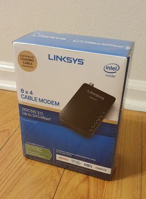 Brand new Linksys cable modem DOCSIS 3.0 8x4 CM3008 (Comcast Xfinity, Spectrum, Cox) for Sale in San Francisco, CA