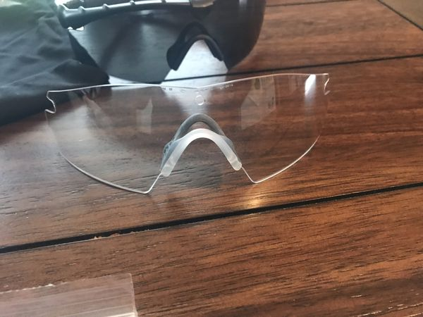 Oakley S.I M clear and dark glasses