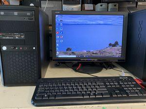 Complete Systems AMD Quad, 8GB, 240GB SSD, WiFi, Win 10 pro, KB, MSE, Monitor for Sale in La Habra, CA