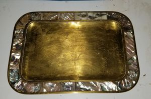 Brass and mother of pearl tray for Sale in Bakersfield, CA