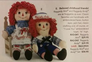 Raggedy Ann & Andy - NEW! for Sale in Chandler, AZ