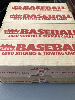 1989 Fleer baseball cards in factory boxes lot of 8 all mint condition for Sale in Lakeland, FL