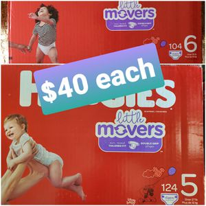 Huggies little movers size 5 or 6 diapers for Sale in LA CANADA FLT, CA
