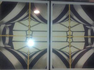 2 Abstract Pencil Color Painting for Sale in Bridgeport, CT