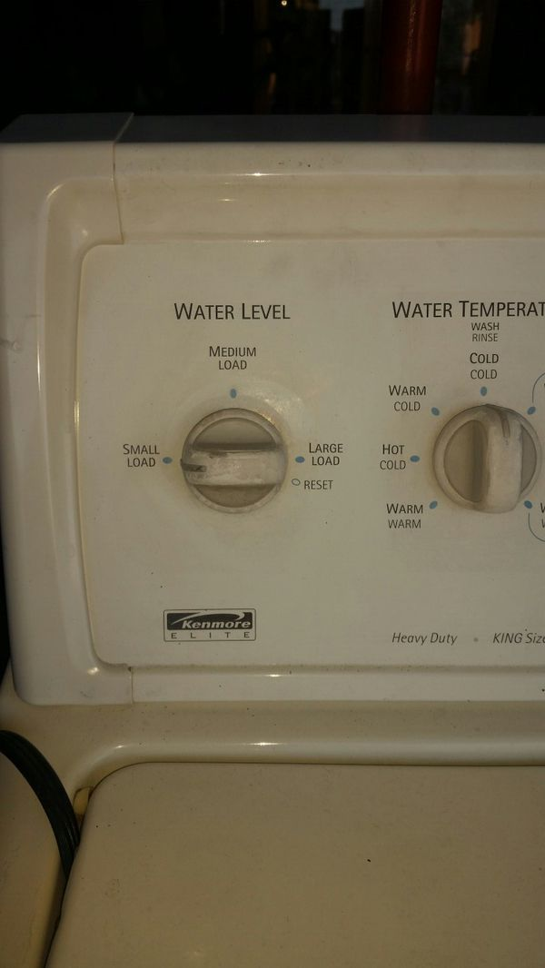 REDUCED PRICE Kenmore refurbished washer n dryer heavy duty upload