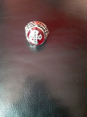 Ring whit cross stainless steel size 10 for Sale in San Leandro, CA