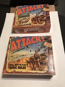 Attack! & Attack! Expansion Board Game Combo by Eagle Games Both Complete for Sale in San Angelo,  TX