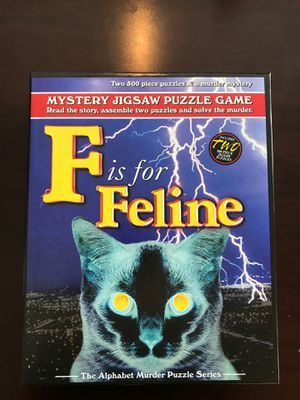 F is for Feline Mystery Jigsaw Puzzle by TDC Games for Sale in Renton, WA