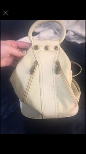 Yellow real leather Valentina Italian backpack bag purse for Sale in Chicago, IL