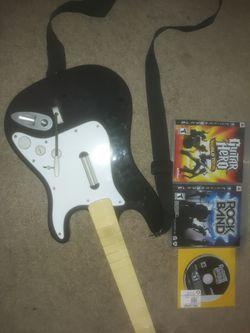 PS3 Guitar & games for Sale in Newnan,  GA