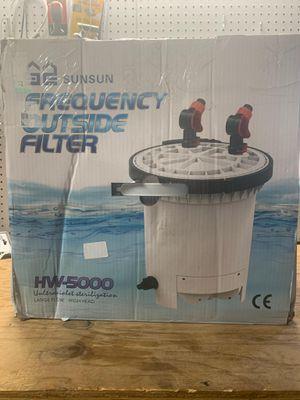 SUNSUN HW-5000 LCD Display 4-Stage External Aquarium Canister Filter for Sale in Dolton, IL