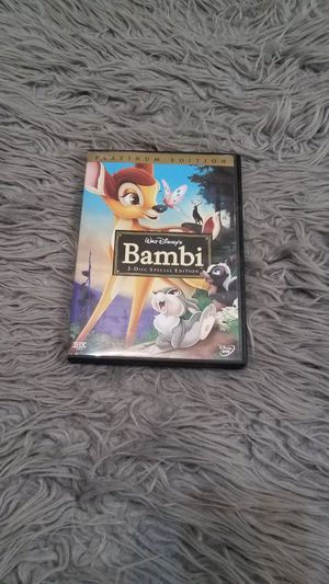 Platinum Edition Bambi DVD for Sale in Mosheim, TN