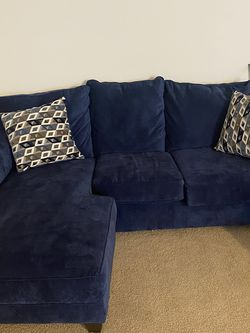 Blue Couch W/ Two Pillows for Sale in Westland,  MI