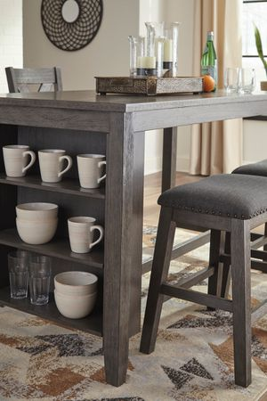 Ashley Furniture Counter Height Dining Set, Grey Finish for Sale in Santa Ana, CA