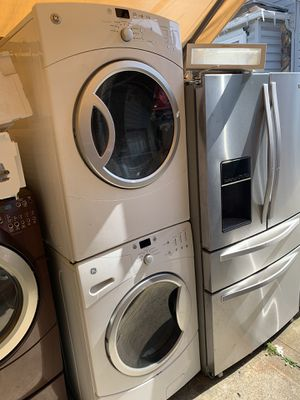 Washer and dryer GE Front Load electric dryer with 3 months warranty free Delivery installation<<<hablo español for Sale in Oakland, CA