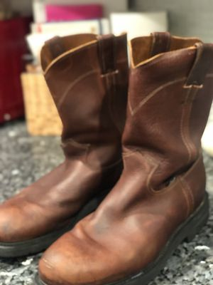MENS JUSTIN LEATHER WORKBOOTS for Sale in Edmond, OK
