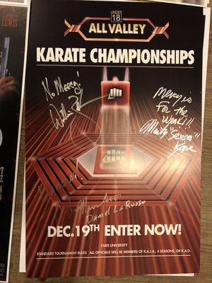 Karate kid triple signed 11x17 for Sale in Pittsburgh, PA