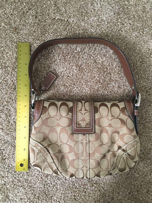 COACH Brown Canvas Hobo Bag
