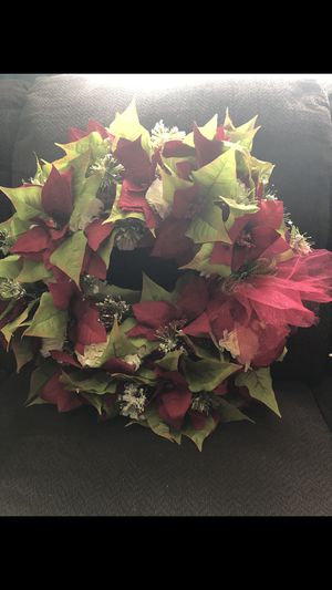 Hand made Christmas wreath for Sale in Virginia Beach, VA